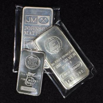 5 and 10 oz .999 Silver Bullion